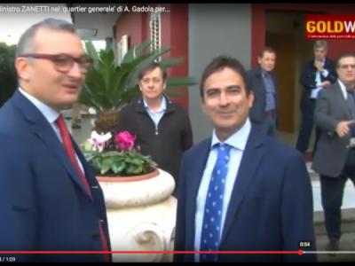 VIDEO. RECALE (CE). V. Ministro Economia On. ZANETTI nel 'quartier generale' di A. Gadola per inaugurazione sede 'Scelta Civica'