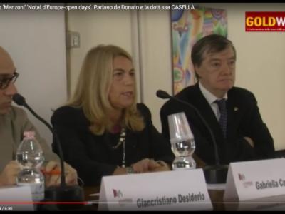 VIDEO. CE. Al liceo 'Manzoni' 'Notai d'Europa-open days'. Parlano de Donato e il Pres. del Tribunale di SMCV dott.ssa CASELLA