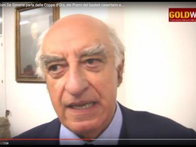 VIDEO. CE. Pres. Coni De Simone parla della Coppa d'Oro, dei Premi del basket casertano e...