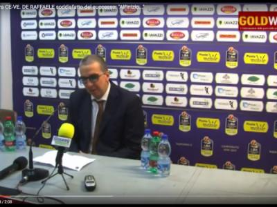 VIDEO. BASKET A. Post gara CE-VE. DE RAFFAELE soddisfatto del successo: