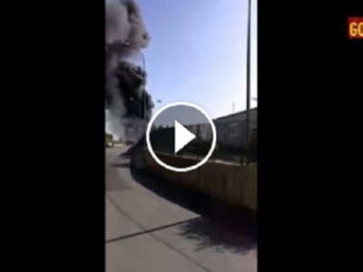 VIDEO  Incendio zona industriale di Pastorano, GUARDATE QUESTE IMMAGINI!