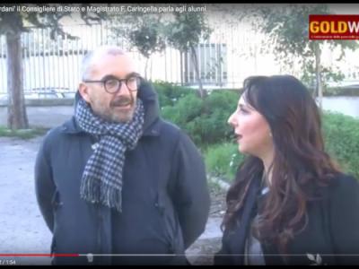 VIDEO. CE. All'Istituto 'Giordani' il Consigliere di Stato e Magistrato F. Caringella parla agli STUDENTI e presenta...