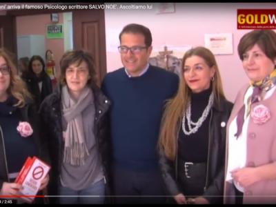 VIDEO. CE. Al liceo 'Manzoni' arriva il noto Psicologo scrittore SALVO NOE'. Ascoltiamo lui e la Pres. Inner Wheel FORMICHELLA