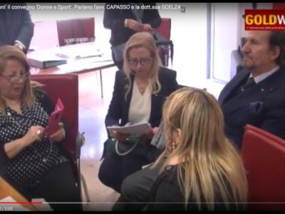 VIDEO. CE. Al liceo 'Manzoni' il convegno 'Donne e Sport'. Parlano l'avv. CAPASSO e la dott.ssa SCELZA