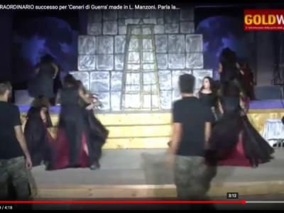 VIDEO. CE. Alla Reggia STRAORDINARIO successo per 'Ceneri di Guerra' made in L. Manzoni. Parla la dott.ssa VAIRO