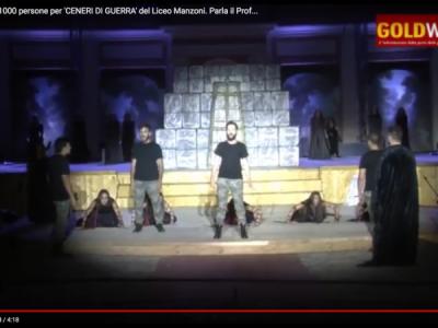 VIDEO. REGGIA CE. Circa 1000 persone per 'CENERI DI GUERRA' del Liceo Manzoni. Parla il Prof. SANTORO