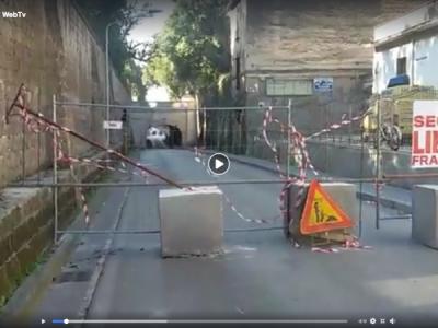 VIDEO. CE. Ore 14.10. Ponte Ercole CHIUSO. Ma non abbiamo visto neanche il CANTIERE APERTO