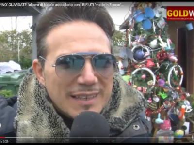 VIDEO. CE. 'ECO...PINO' GUARDATE l'albero di Natale addobbato con i RIFIUTI 'made in Ecocar'. Parlano Vallarelli...