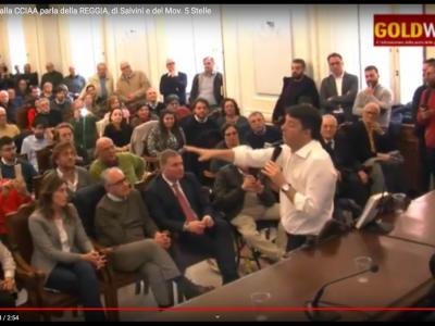 VIDEO. CE. Sen. Matteo RENZI alla CCIAA parla della REGGIA, di Salvini e del Mov. 5 Stelle