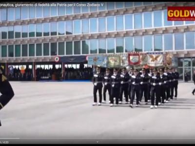 VIDEO. Pozzuoli. Acc. Aeronautica, giuramento di fedelt� alla Patria per il Corso Zodiaco V. Le interviste