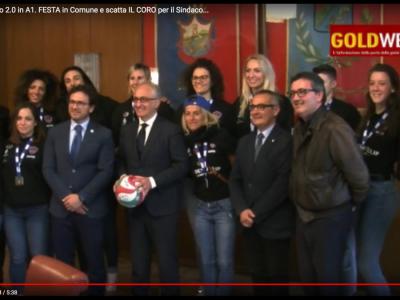VIDEO. CE. Volley F. Volalto 2.0 in A1. FESTA in Comune e parte IL CORO per il Sindaco MARINO