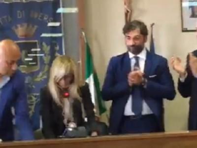 VIDEO. AVERSA. La Proclamazione  del nuovo Sindaco Alfonso Golia