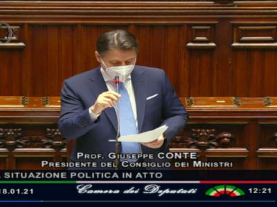 VIDEO. Crisi politica. Il Premier Conte riferisce alla Camera e parla anche della pandemia